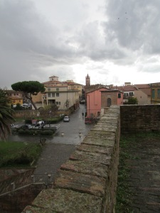 A view of Grosseto, Italy from the wall that encircles the city.