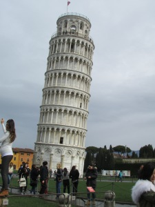 The Leaning tower of Pisa  itself, as if it needed an introduction.