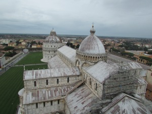 View from the top of the leaning tower.