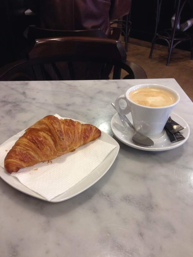 Cafe con Leche y un croissant is also a must have every time I return to Barcelona, for me.