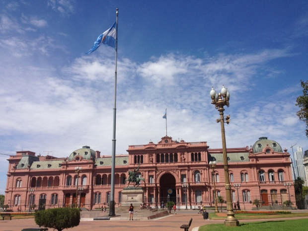 Casa Rosada in the center of Buenos Aires.