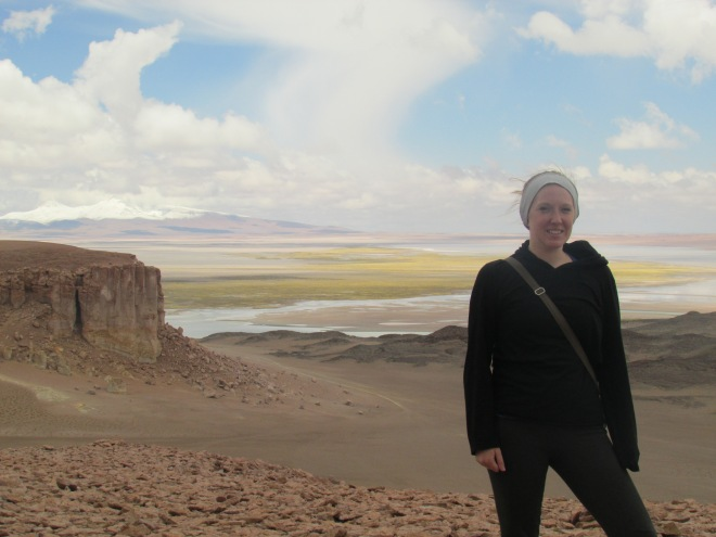 Our first stop on the Salar de Tara tour. The landscape was unlike anything I've seen before.
