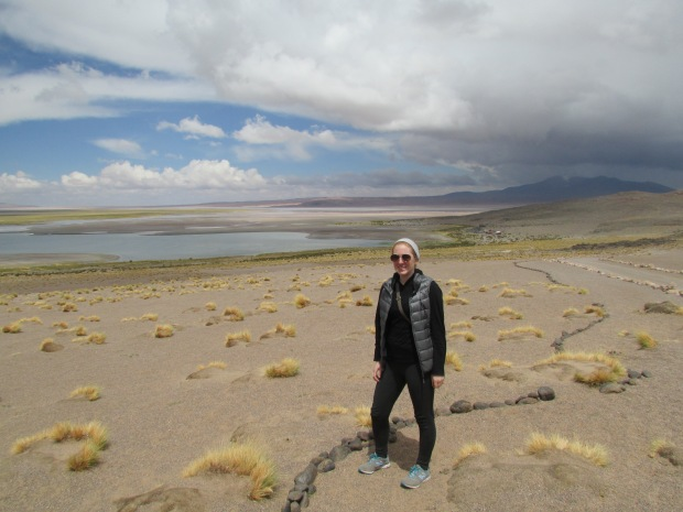 The Salar de Tara and myself. It was pretty incredible to see this oasis in the middle of the desert after driving for over an hour.
