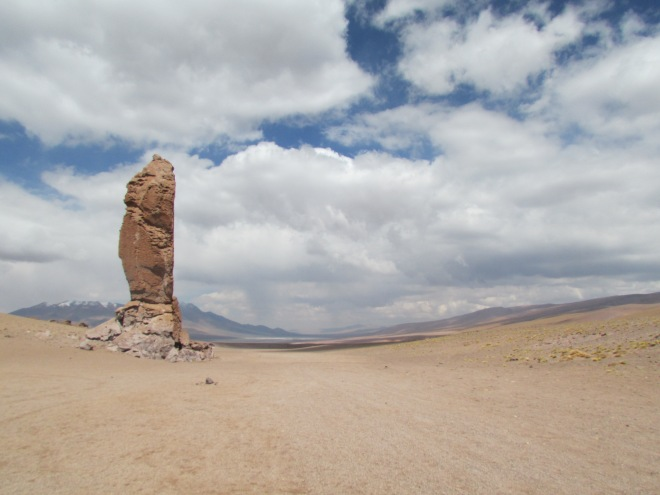 The stone monks in the middle of the desert outside of San Pedro de Atacama, Chile.