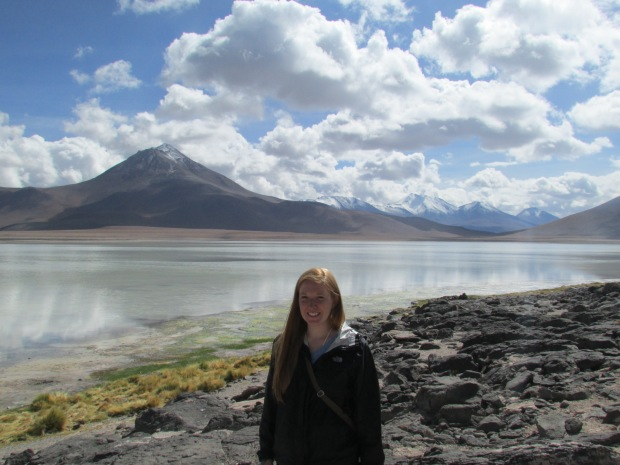 Beautiful first stops at Laguna Verde and Blanco in Uyuni.