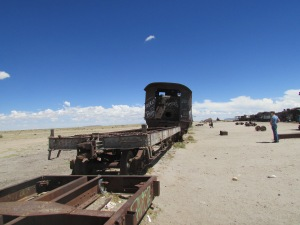 The train cemetary in Uyuni.