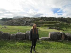 Exploring local ruins.